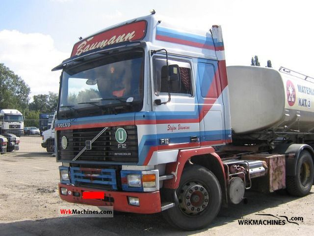 1991 VOLVO F 12 F 12/400 Semi-trailer truck Standard tractor/trailer unit photo