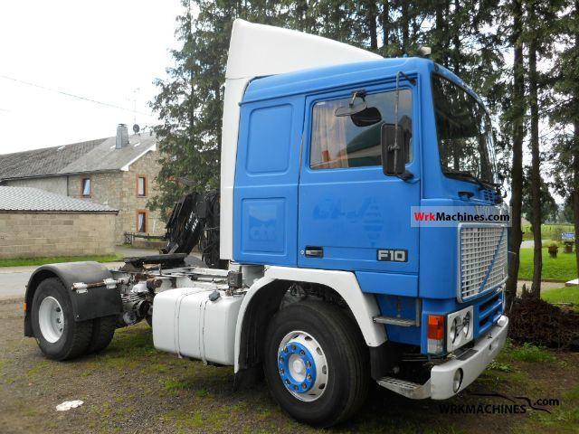 1985 VOLVO F 10 F 10/300 Semi-trailer truck Standard tractor/trailer unit photo