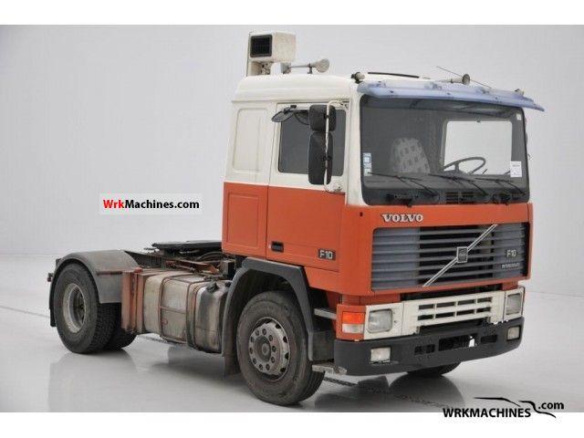 1988 VOLVO F 10 F 10/320 Semi-trailer truck Standard tractor/trailer unit photo