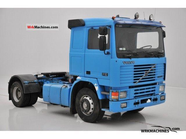 1990 VOLVO F 10 F 10/320 Semi-trailer truck Standard tractor/trailer unit photo