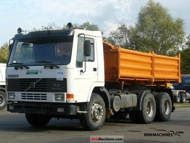 1992 VOLVO F 10 10/320 Truck over 7.5t Tipper photo