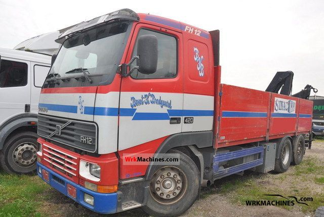 1995 VOLVO FH 12 FH 12/420 Truck over 7.5t Stake body photo