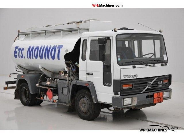 1988 VOLVO FL 6 FL 614 Truck over 7.5t Tank truck photo