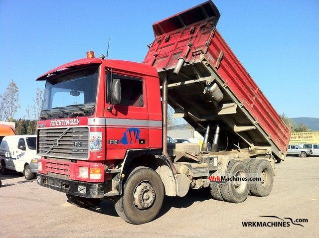 1992 VOLVO F 12 F 12/360 Truck over 7.5t Three-sided Tipper photo