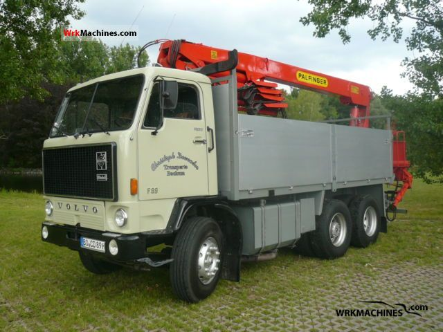 1972 VOLVO F 80 F 89/330 Truck over 7.5t Truck-mounted crane photo