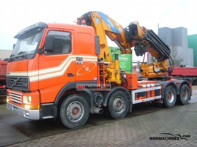 1998 VOLVO FH 16 FH 16/470 Truck over 7.5t Truck-mounted crane photo