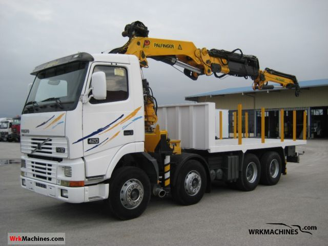 1994 VOLVO FH 12 FH 12/420 Truck over 7.5t Truck-mounted crane photo